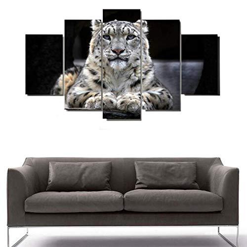 5 Tafeln Bilder Gepard Bild Stretching Und Rahmen Leinwandbilder Bild Auf Leinwand Wandbild Kunstdruck Wanddeko Wand Wohnzimmer,30 * 40CM*230 * 60CM*230 * 80CM*1 (Gepard-druck-wand-bilder)