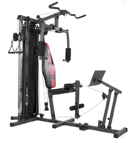 HAMMER Kraftstation Ferrum TX3, Trainingsstation mit Seilzugsystem, Beinpresse & Power-Lat.-Bar, Multistation für Beintraining, Bauch, Rücken & Co, 50 Übungsmöglichkeiten, 210 x 120 x 198 cm
