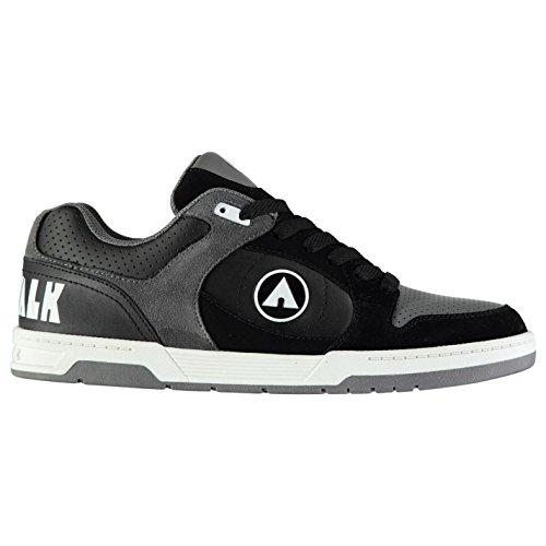 Airwalk Kinder Throttle Skate Sportschuhe Schwarz/Grau 39