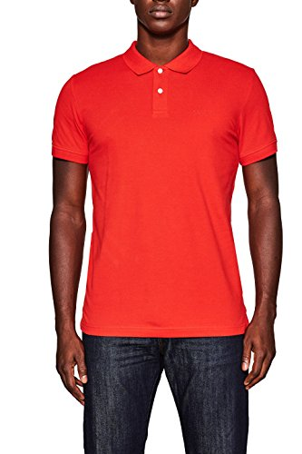 ESPRIT Herren Poloshirt Rot (Orange Red 635)