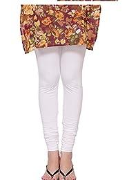 Dream Fashion Cotton Lycra White Leggings For Women's ( Size Free_ White)