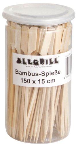 Brochettes de bambou 15cm de long, contenu: 150pièces