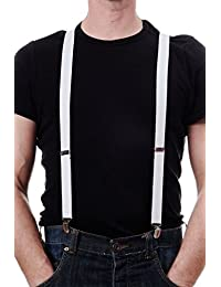 Halloween Carnevale Bretelle Suspenders Bianco Anni 20 e 30 Mafia Don W-061W-white Dress Me Up