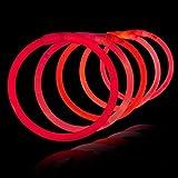 100 Pulseras luminosas glow pack rojas ENTREGA 1-3 DÍAS