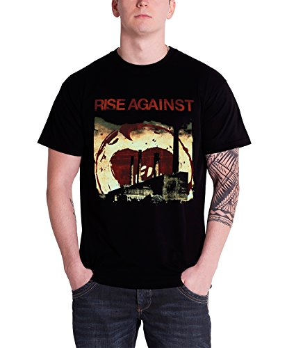Rise Against T Shirt Smoke Stacks Schwarz market band logo offiziell Nue (Rise Bands Against)