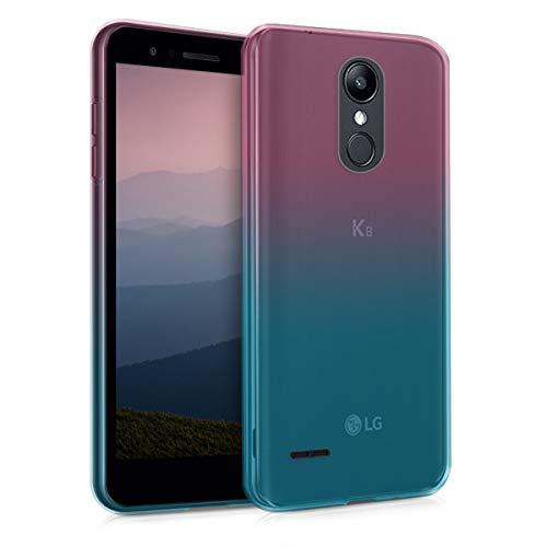 kwmobile LG K8 (2018) / K9 Hülle - Handyhülle für LG K8 (2018) / K9 - Handy Case in Zwei Farben Design Pink Blau Transparent