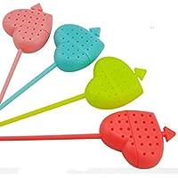 Wrone (TM) 1 pc pietra di colore Strumenti di t¨¨ Candy mandrino colino da t¨¨ Interessante compagno di vita del silicone T¨¨ Infuser set di filtri D5