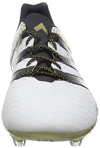 adidas Ace 16.2 Fg, Scarpe da Calcio Uomo Bianco (Ftwr White/core Black/gold Metallic)