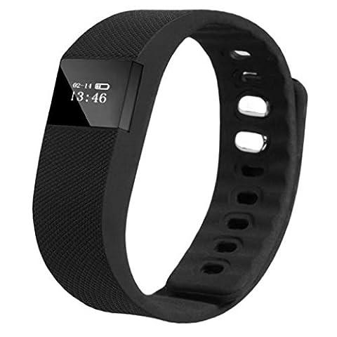 Loveso-Smart-Armband Smart-Armband Schlaf Sports Fitness Activity Tracker Pedometer-Armband-Uhr_Schwarz
