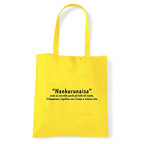 Art T-shirt, Borsa Shoulder Nankurunaisa, Shopper, Mare Giallo
