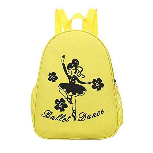 Khdjh zaino per bambini bambini danza zaino scuola borsa nette dancing cartoon scuola scuola tela borse zaini per ragazze bambini zaino borsa d giallo