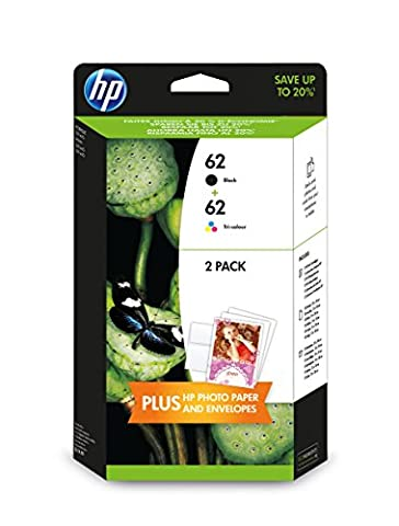 HP 62 2-pack Black/Tri-color Original Ink Cartridges (J3M80AE)