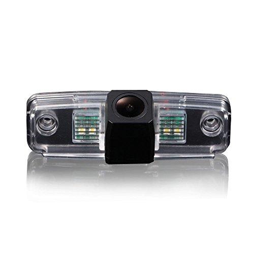 Kalakus Super Starlight Pro HD Auto Rückfahrkamera verbesserte Einparkhilfe mit 8IR Nachtsicht 170° Weitwinkel Wasserdicht Hoche Defination (schwarz) für Impreza/Outback 2006,2008-2011 Subaru Forester 2005-2010 Subaru-emblem Vorne