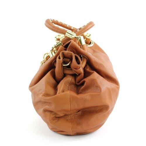 Made Italy , Sac pour femme à porter à l'épaule Beige - Camel