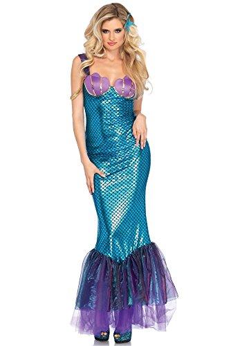 Meerjungfrau Seashell Kostüm - shoperama Seashell Mermaid Damen-Kostüm von Leg Avenue Meerjungfrau Kleid sexy Nixe , Größe:L