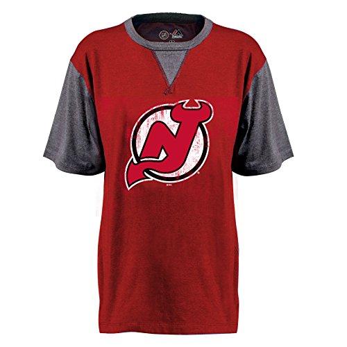 Profile Big & Tall NHL New Jersey Devils Short Sleeve Raglan PCD Tee, klein, rot - Raglan Jersey Tee