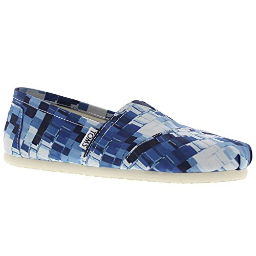 Toms Womens Classic Ink Satin Paint Print Textile Shoes 4 UK