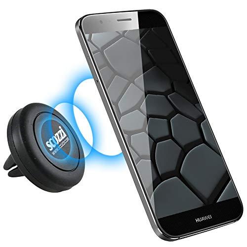 scozzi KFZ Lüftungs-Magnet-Halterung für [Huawei P30 P20 P10 P9 P8 P smart Nova 2 3 Y9 Y7 Y6 Y5 Y3 Mate 20 10 9 8 S RS Honor 10 9 8 7 6 5 4 | Pro Lite Plus Prime + mehr] Auto Halter