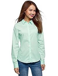 oodji Ultra Mujer Camisa Básica Entallada
