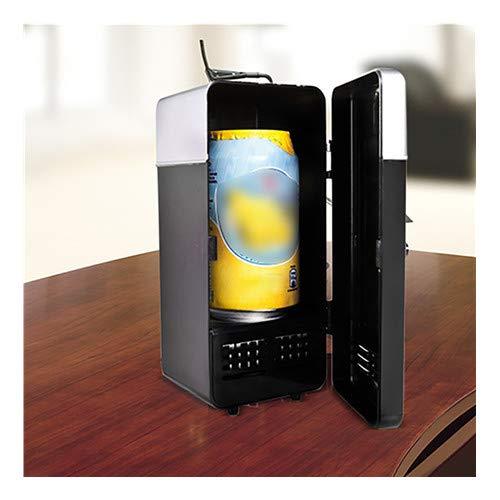 Mini-bier-kühler (About1988 Mini Portable USB Kühlschrank,Modern Edition Kühlschrank Standkühlschrank,Auto Portable Bier Getränk´Bier Kühler Getränkekühler/Mini-Bar/Retrokühlschrank (Schwarz))