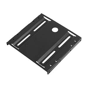 "sourcingmap® Black Metal 2.5"" to 3.5"" ATX SSD Mounting Adapter Bracket Holder"