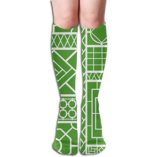 High Trellis (Women's Fancy Design Stocking Trellis On d Multi Colorful Patterned Knee High Socks 19.6 Inchs)