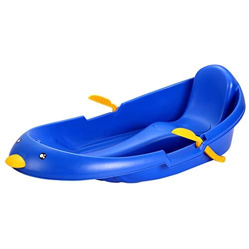 Softneco Kunststoffrodel, Doppelte rodel Schlitten Rodeln-brettsitz Kältebeständig -40 ° verdickung für Erwachsene, Kinder 39'' Zoll-A