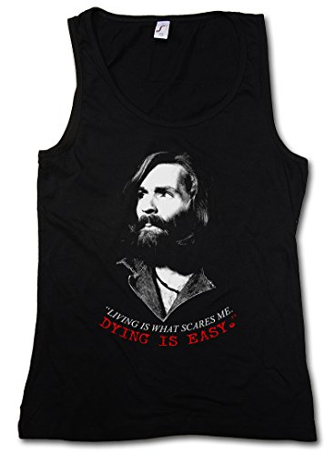 CHARLES MANSON DYING DAMEN TANK TOP - Family Charlie Don´t Surf Sharon...