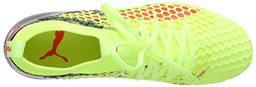 Puma Future 18.2 Netfit MX SG, Chaussures de Football Homme Jaune (Fizzy Yellow-red Blast-puma Black)