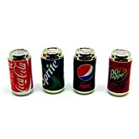Tumdee Miniatures Dolls House Accessory Drink Can Set 3