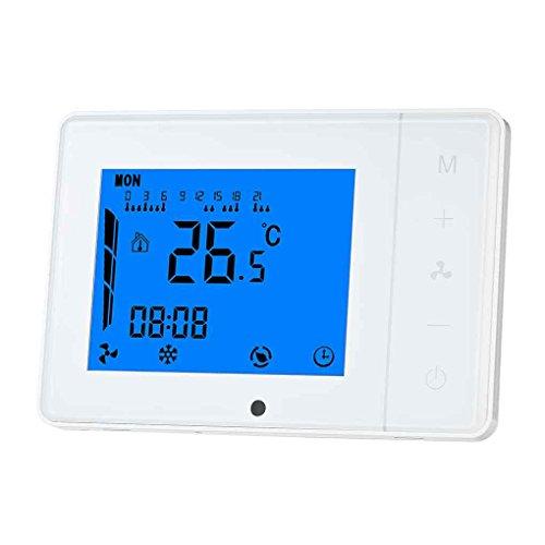 Blau Touch-screen-thermostate (Ben-gi Klimaanlage 2-Rohr 4-Rohr-Thermostat Programmierbarer Raumtemperaturregler LCD Display Touchscreen-Thermostat)