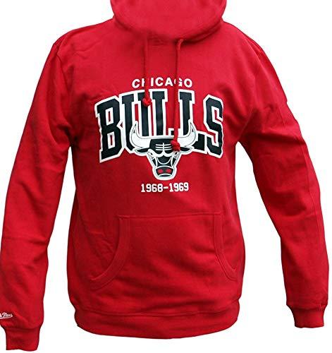 Mitchell & Ness Chicago Bulls HWC Arch Logo Hoody Scarlet Hoodie Sweater Herren Mens Bulls Logo Hoody