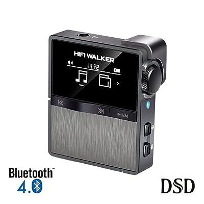 HIFI WALKER HX Lecteur MP3 Sport Bluetooth Mini Lecteur Audio Numérique Sans Perte Haute Résolution avec carte mémoire de 16 Go, prend en charge jusqu'à 256 Go de HIFI WALKER