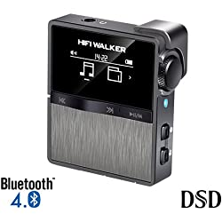 HIFI WALKER HX Lecteur MP3 Sport Bluetooth Mini Lecteur Audio Numérique Sans Perte Haute Résolution avec carte mémoire de 16 Go, prend en charge jusqu'à 256 Go