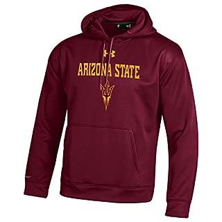 Under Armour NCAA Arizona State Sun Devils Men's Fleece Hoodie, XX-Large, Maroon