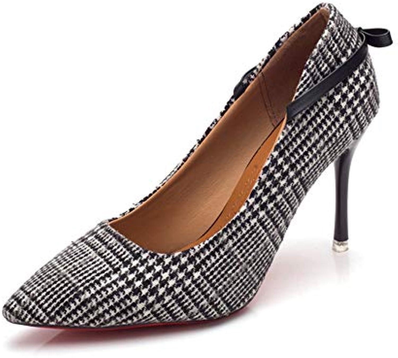 Jqdyl Scarpe col tacco alto nuove scarpe con tacco tacco tacco alto da donna fini con scarpe di moda in panno morbido a punta,38 | Germania  | Uomo/Donne Scarpa  86e164
