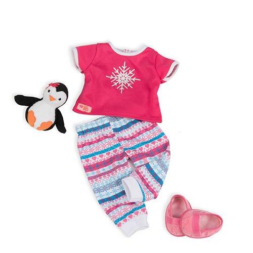 (Our Generation BD30211Z - OG - Schlafanzug mit Schneeflocken)