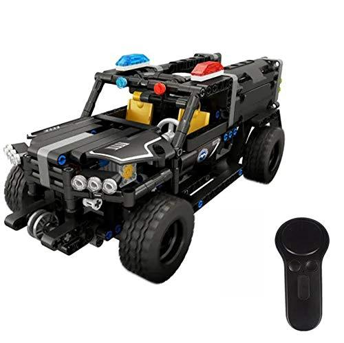 Modbrix Technic 2,4 Ghz RC Bausteine SEK Polizei Panzerfahrzeug, Ferngesteuertes Auto, 431 teiliges Konstruktionsspielzeug