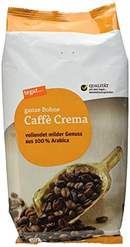 Tegut Café Crema ganze Bohne (1 x 1.00 kg)