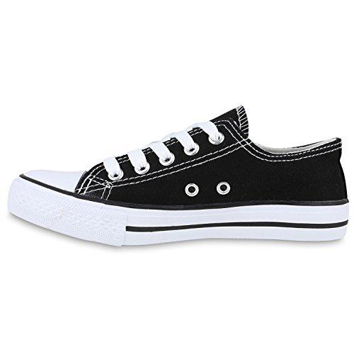 Kinder Sportschuhe Sneakers Turnschuhe Schnürschuhe Schwarz