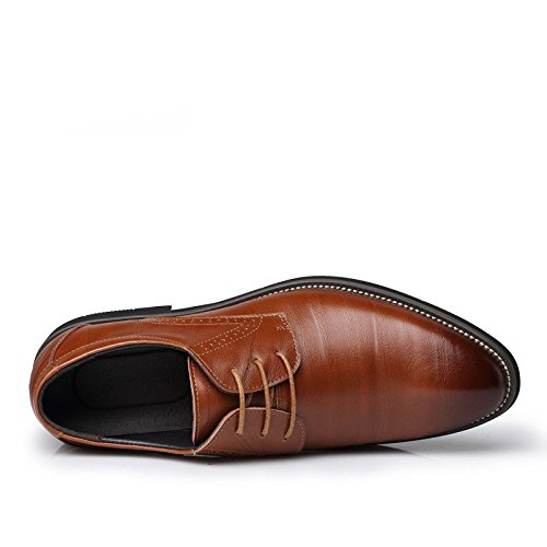 kakaka hommes Chaussures de chaussures Business pour léger en cuir de vache - light@brown