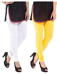 Sml Originals Comfortable & Stretchable Multi Colour Cotton Leggings (pack of 2)