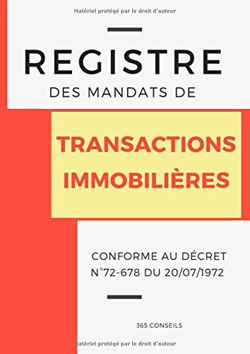 Registre des Mandats de Transactions Immobilières par 365 Conseils