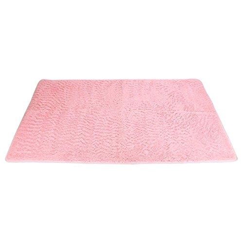OULII Shag moderno super morbida coperta di Area soggiorno camera da letto tappeto per bambini Play Solid Casa decoratore pavimento Tappeto (rosa)
