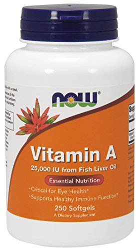 Now Foods Vitamin A 25000 Iu, 250 Sgels