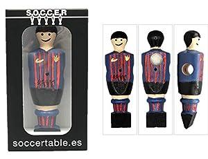 Soccer Table SL- Individual Jugador de Futbolín Barcelona con imán, presentado en una Exclusiva Caja expositora, Color Azul/Granate (art-066)