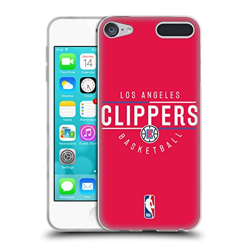 Head Case Designs Offizielle NBA Logotyp 2018/19 Los Angeles Clippers Soft Gel Hülle für Apple iPod Touch 6G 6th Gen