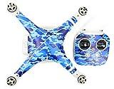 Pgytech DJI Phantom 3 Inspire 1 Autocollant Camouflage Bleu