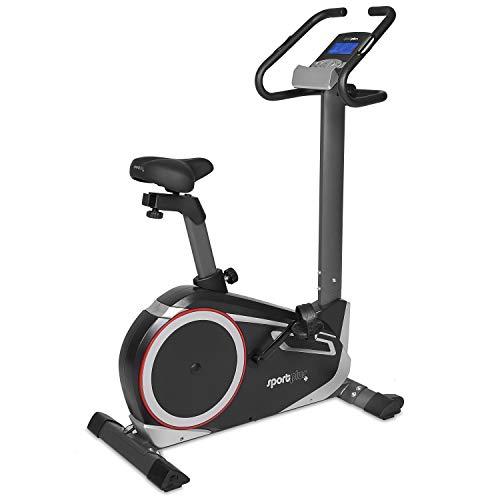 SportPlus SP-HT-9600-iE Bicicleta Estática con Aplicación para Smartphone, Google Street View, Potenciómetro...