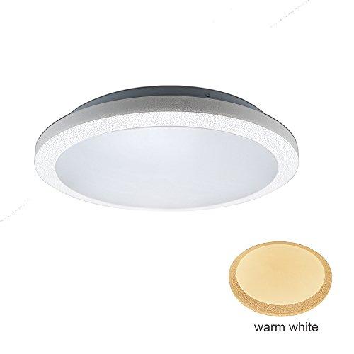 ZHMA 48W Flush Mount Ceiling Light,3600LM,Warm White Waterproof Ceiling Lamp,LED Modern Panel Light,Energy Saving,Lighting for Livingroom,Bedroom,Bathroom,Corridor,Kitchen,Hallway (Mount Leuchtstofflampen Flush)